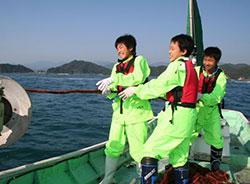 伊勢エビ刺し網漁体験