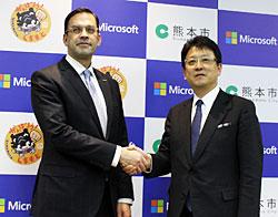 日本MS・平野社長と熊本・大西市長